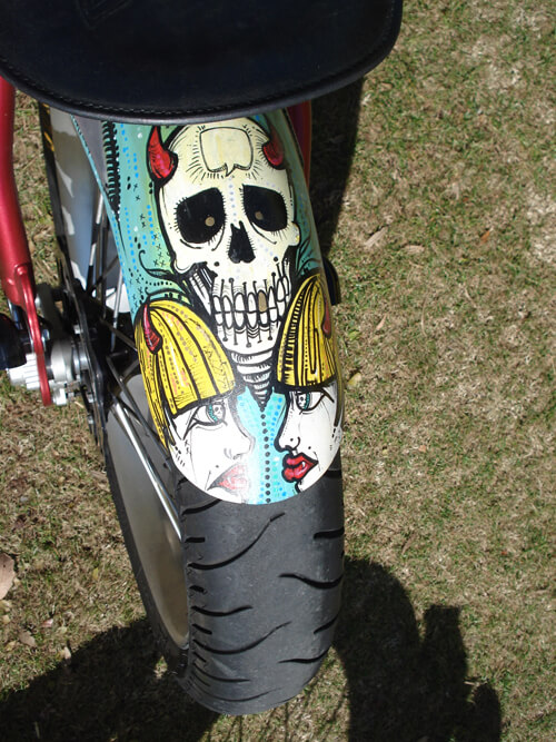 Painted fender with skull