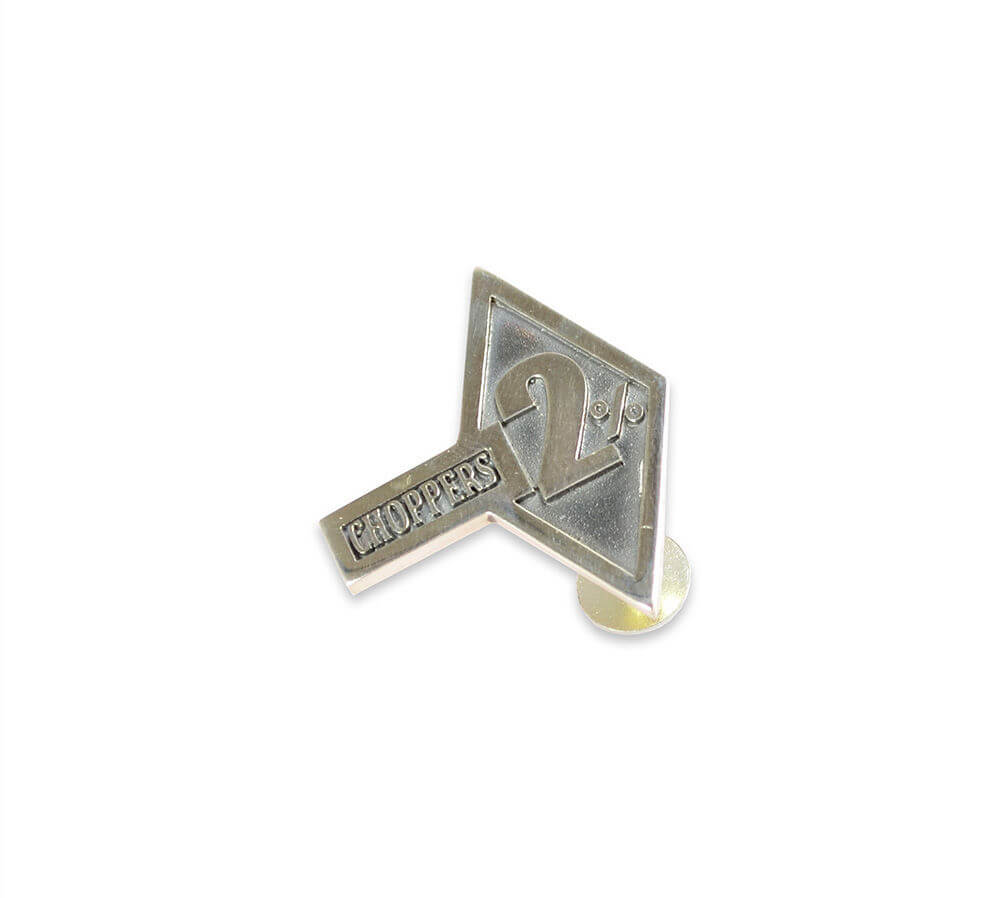 Now in our webshop! 2%choppers silver pin